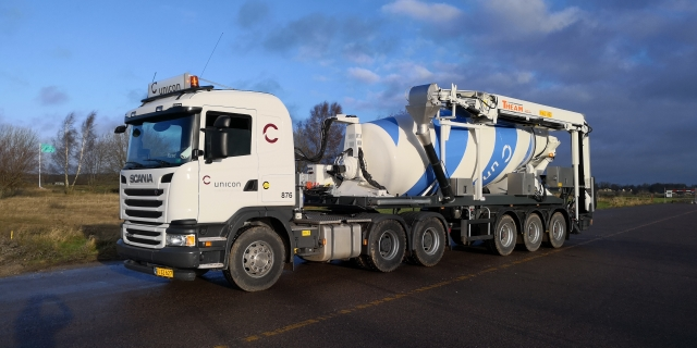 Ready-mix concrete truck, Norway
